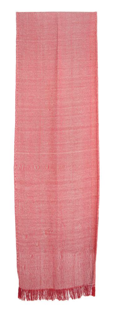 Bufanda de seda en color coral.