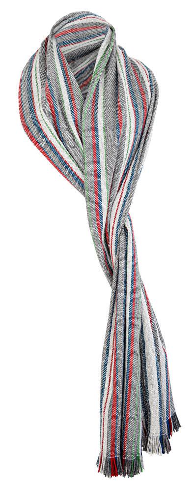 Bufanda de lana a rayas.