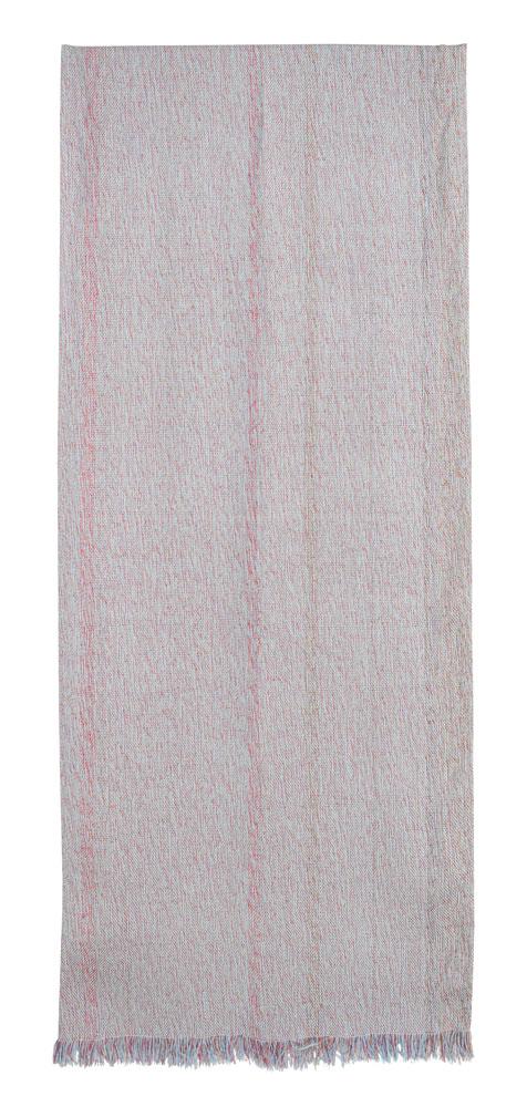 Bufanda de seda con pequeñas rayas.