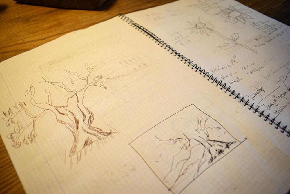 Estudios previos para un tapiz.