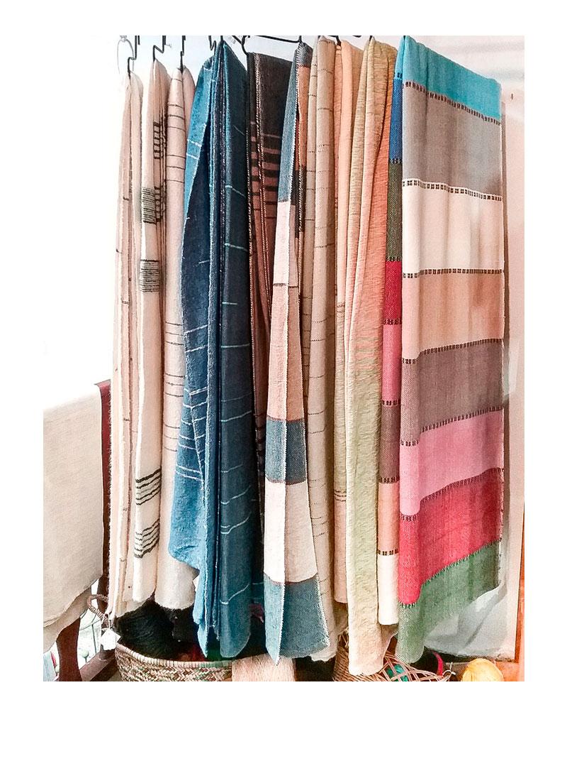 Mantas de lana.